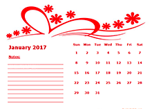2017 yearly calendar with us holidays