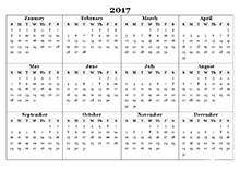 2017 Yearly Calendar Templates - Download FREE Printable Calendar ...