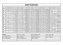 2017 yearly calendar landscape 09