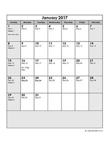 2017 monthly calendar portrait 14