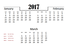 2017 calendar with australia holidays free printable australia 2017 quarterly calendar for australia pronofoot35fo Image collections