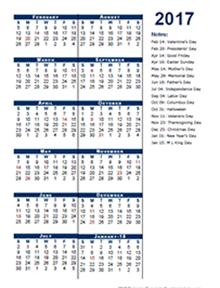 2017 Fiscal Period Calendar 4-4-5