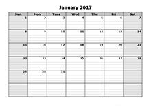 2017 free blank calendar