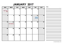 2017 free calendar pdf