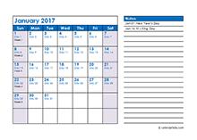 2017 monthly julian calendar03