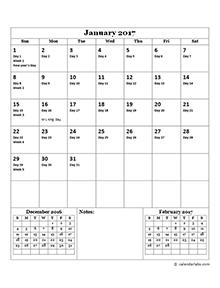 2017 monthly julian calendar01