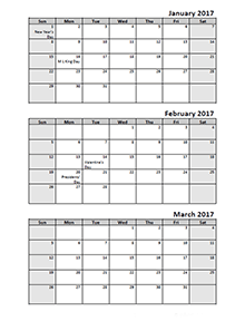 Monthly planner 2012 template