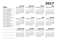 2016 yearly calendar pdf template