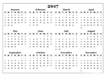 2017 Calendar Templates - Download 2017 monthly & yearly templates ...