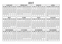 yearly calendar 2017 template