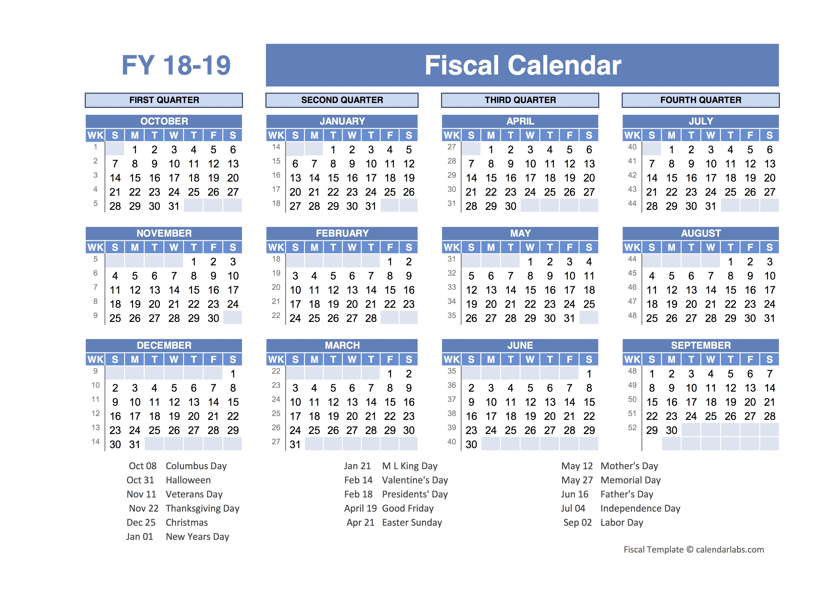 Xlsx Year Calendar : Fiscal planner template free printable templates