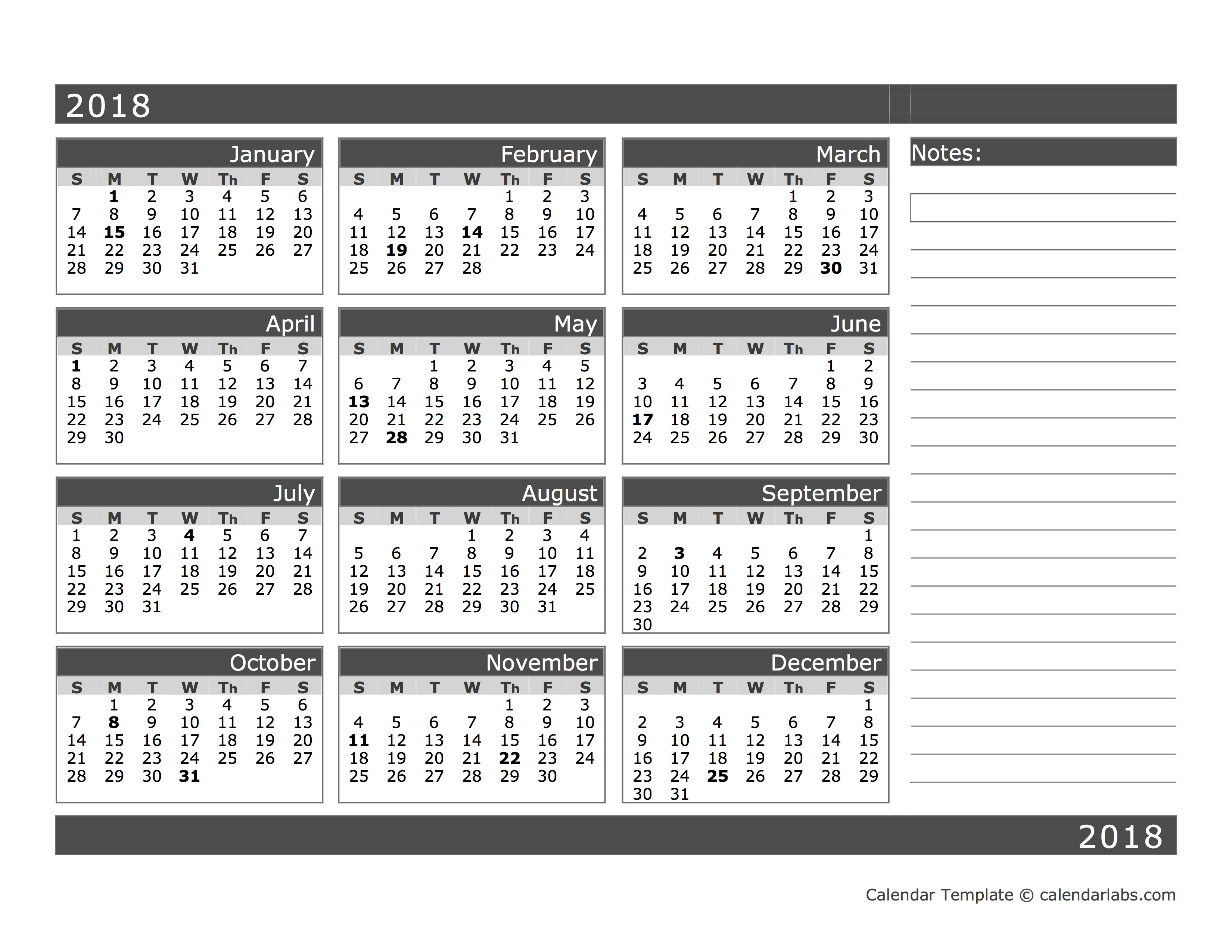 Blank Calendar View : Blank month calendar in one page free printable