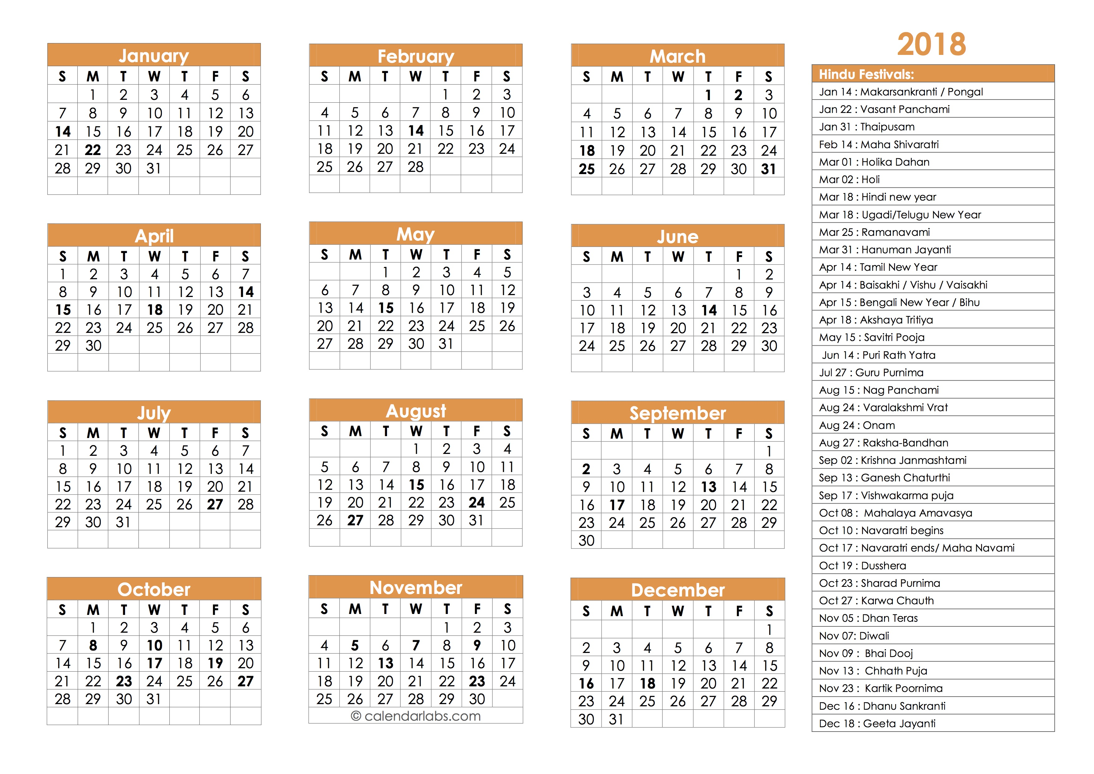 Calendar Labs August 2019