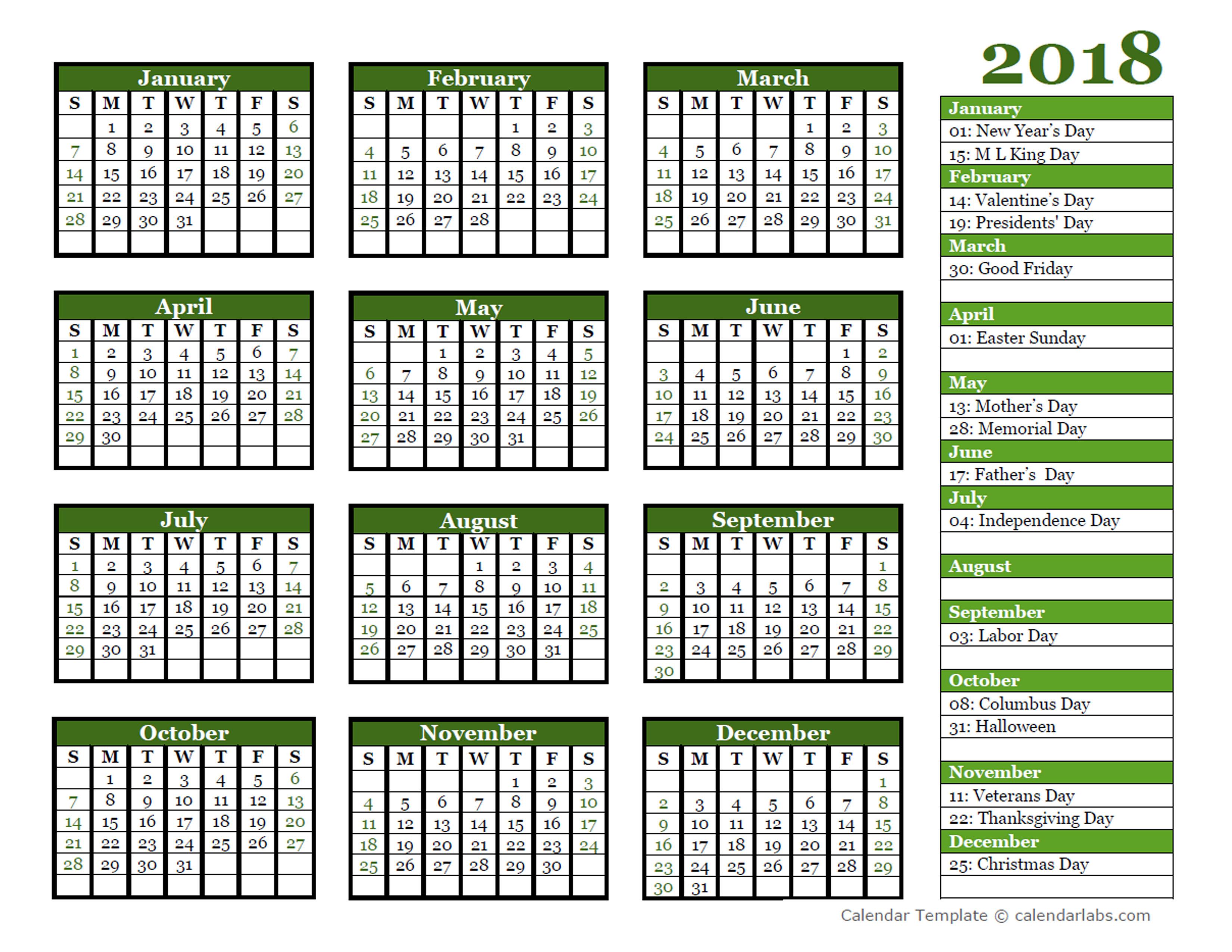Year Calendar Editable : Editable yearly calendar landscape free printable