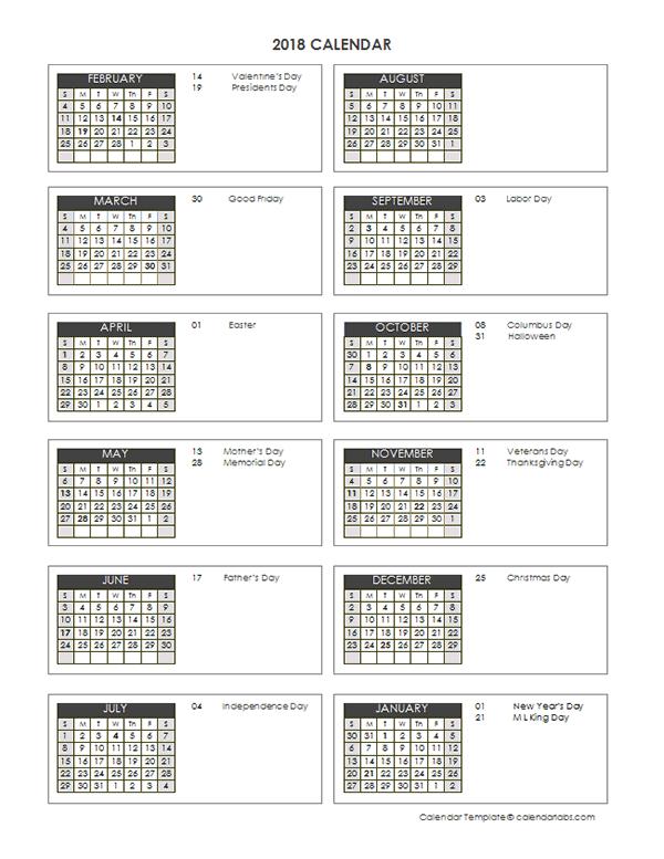 2018 Accounting Close Calendar 4-4-5