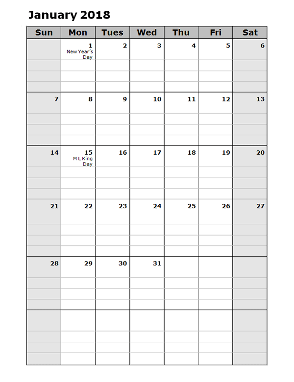 june 2018 calendar printable portrait
