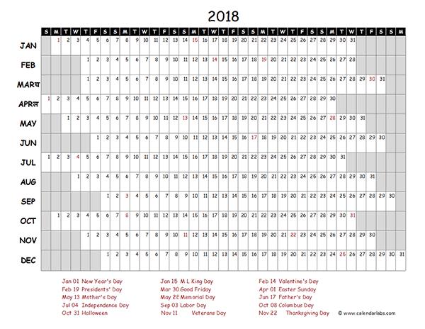 calendar template 2018 excel - Geocvc.co