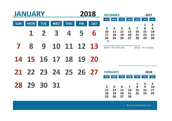 excel calendar templates 2018