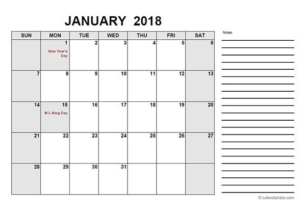 monthly calendar 2018 pdf - Geocvc.co