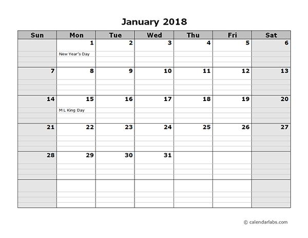 free 2018 calendar pdf - Geocvc.co