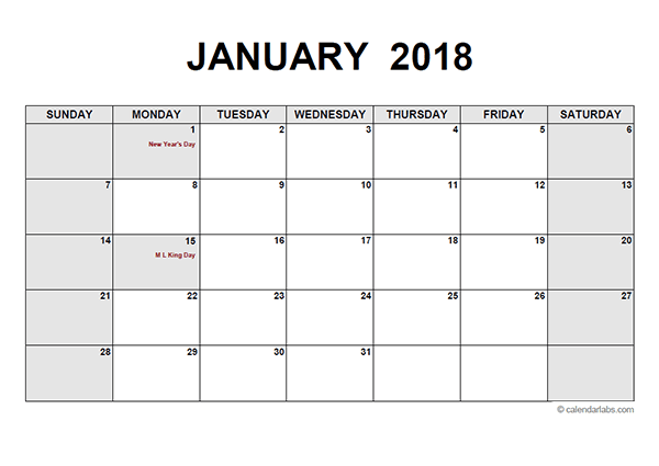 Free Printable Pdf Calendar Download Monthly Yearly 2018 Pdf