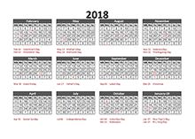 5 4 4 financial accounting calendar 2018