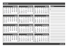 2018 Blank Calendar Templates Download Free Printable 2018 Blank