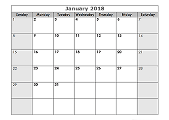 printable calendar template 2018 - Geocvc.co
