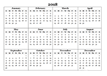 2018 yearly calendar template - Geocvc.co