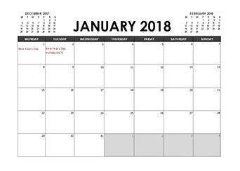 2018 calendar template pdf - Geocvc.co