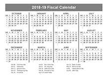 2018 fiscal year calendar template printable free templates