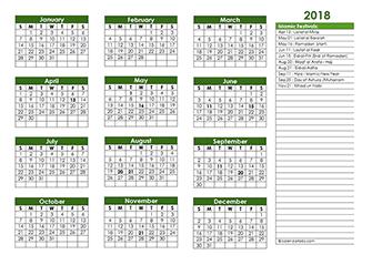 2018 Islamic calendar