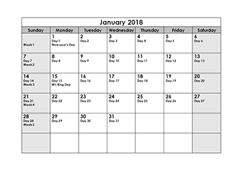2018 julian calendar download free julian date calendar