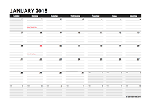 2018 Daily Planner Excel Template