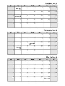 2018 quarterly calendar - Geocvc.co
