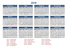 2018 Retail Accounting Calendar 4-4-5