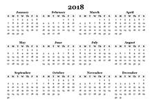 printable annual calendar 2018 - Geocvc.co