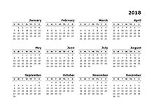 2018 blank calendar - Geocvc.co