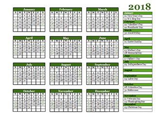 2018 Calendar Templates - Download 2018 monthly & yearly ...