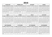 customizable 2018 yearly at a glance calendar