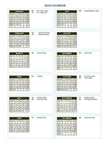 2018 annual calendar - Geocvc.co