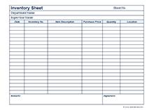 Business Inventory Calendar