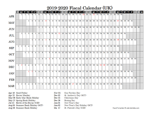 Calendar 2019 Year Excel