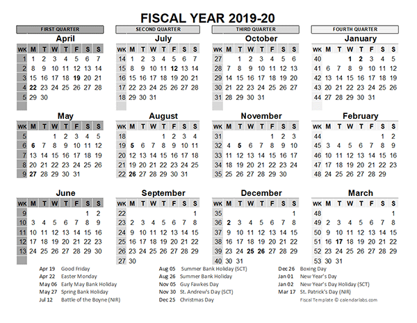 fiscal year 2019