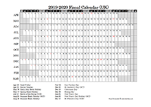 2019 fiscal year calendar