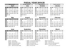 Printable 2019 Fiscal Year Calendar Template Calendarlabs