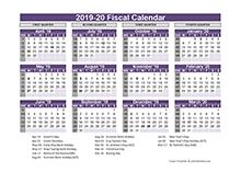 UK Fiscal Calendar Template 2019-20