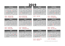 5-4-4 Financial Accounting Calendar 2019