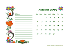 2019 Blank Appointment Calendar Free Printable Templates