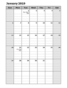 Free 2019 Monthly Calendar Download Printable Calendar Templates